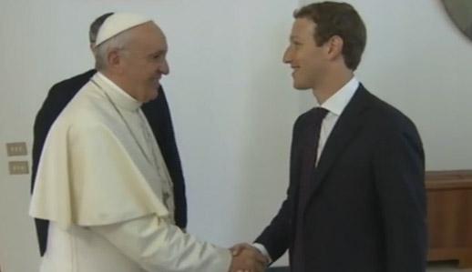 Reflexión sobre el encuentro del dueño de Facebook con @pontifex_es